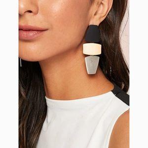 Modern Block Geometric Drop  Statement Earrings